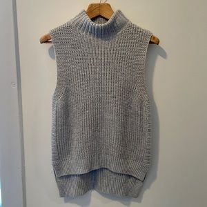 Cotton Emporium Grey Sleeveless Turtleneck Sweater